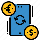 currency, exchange, finance, mobile, transfer