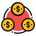 circulation, currency, financial, money, transfer icon