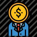 businessman, buyer, finance, investor, seller icon