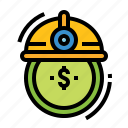 costs, employer, finance, labor, salary icon