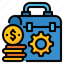costs, finance, maintenance, money, service icon