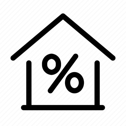 discount, estate, home, house, loan icon