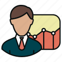 analysis, analytics, chart, charts, diagram, graph, user icon