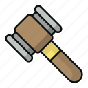 court, gavel, hammer, judge, justice, law, lawsuit icon