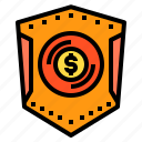 money, protect, shield icon