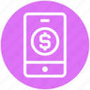 android, cell phone, finance, mobile, mobile banking, phone, smartphone icon
