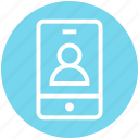android, finance, mobile, phone, profile, smartphone, user icon
