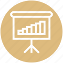 board meetings, business, chart, finance, graph, result, transactions icon