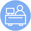 desk, finance, lcd, man, office, user, working