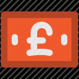 bank note, british pound, currency, money, pound, pound note icon