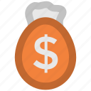 finance, investment, money bag, money pouch, money sack, saving icon
