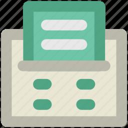 fax, fax machine, machine, print, printer, printing machine icon