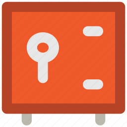 bank locker, cash safe, locker, money box, money safety icon