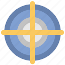 aim, crosshair, focus, goal, shooting target, target icon