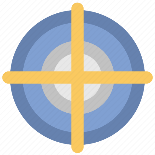 aim, crosshair, focus, goal, shooting target, target icon