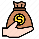money, bag, business, hand, finance