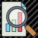 statistics, report, chart, analysis, graph icon