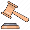 hammer, law, legal, court, auction icon