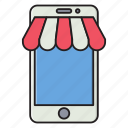 store, online, ecommerce, shopping, mobile icon