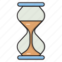 sandglass, stopwatch, timer, hourglass, deadline icon