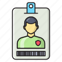 profile, user, card, badge, id icon