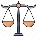 justice, scale, court, balance, law icon