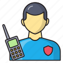 talkie, security, finance, manager, officer icon