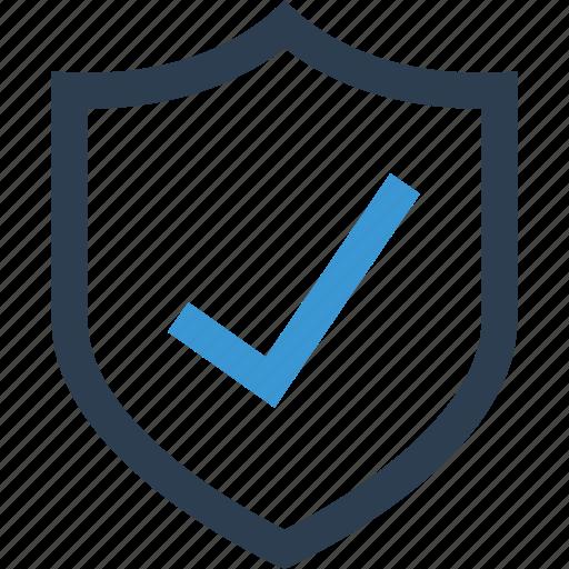 approved, check, good, guarantee, mark, ok, shield icon