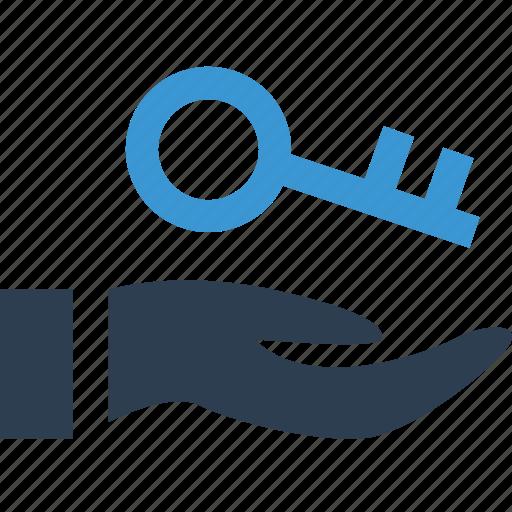 buy, hand, holding, key, keys icon