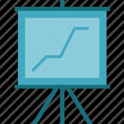 board, business presentation, presentation, presentation board, presentation chart, presentation frame, presentation of works icon