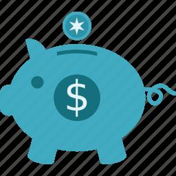 budget, pigggy bank, savings icon