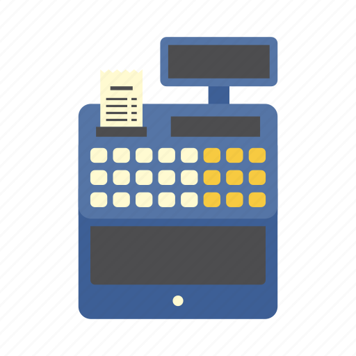 bank, cash register, cashier, finance, machine, money, shopping icon