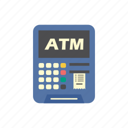 atm, bank, debit card, finance, machine, money, pay icon