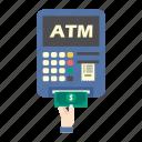 atm, bank, finance, machine, money, pay, taking money