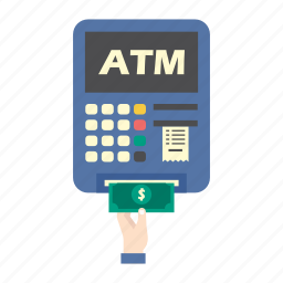 atm, bank, finance, machine, money, pay, taking money icon