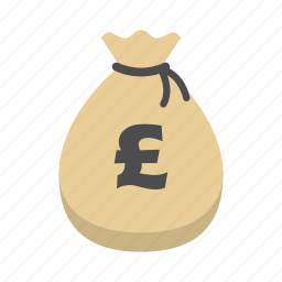 bank, finance, money, money bag, pound, poundsterling, saving icon
