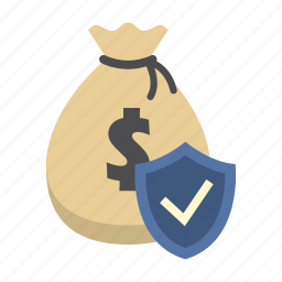 bank, finance, money, money bag, protection shield, saving, shield icon