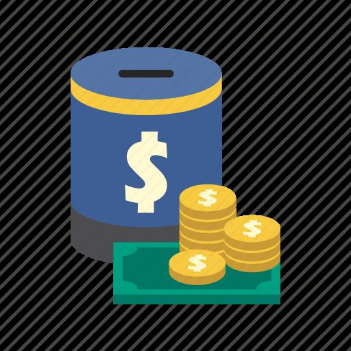 bank, dollar, finance, money, money box, saving, storage icon