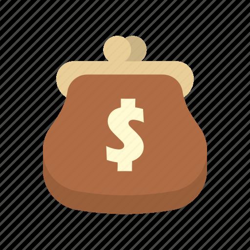bank, dollar, finance, money, purse, saving, storage icon