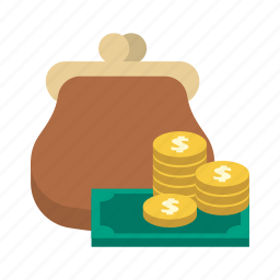 bank, dollar, finance, money, purse, saving, storage icon