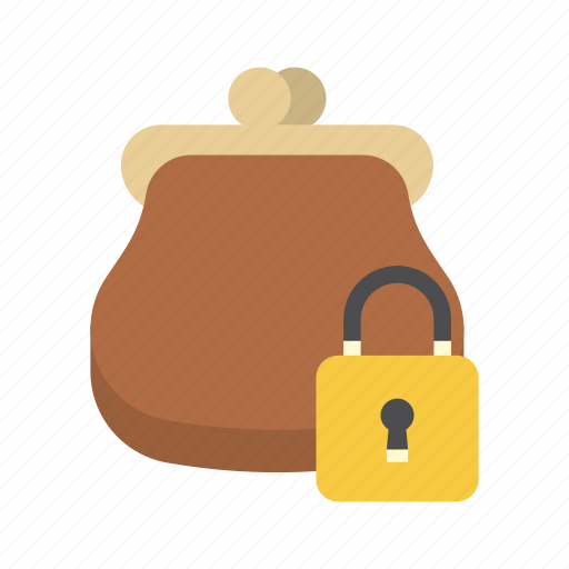finance, money, padlock, purse, saving, secure, storage icon