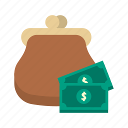cash, dollar, finance, money, purse, saving, storage icon