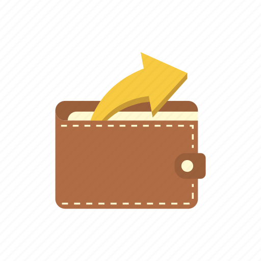 bank, finance, money, outcome, saving, storage, wallet icon