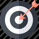 business, goals, round, success, target icon