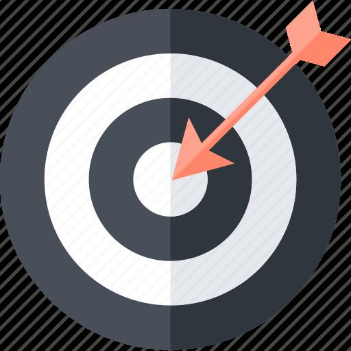 business, flat design, goals, round, success, target icon