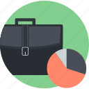 analysis, business, flat design, office, plan, round icon