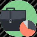 analysis, business, office, plan, round icon