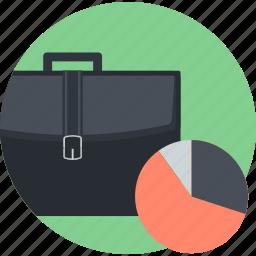 analysis, business, flat design, office, plan, round icon