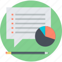 customer, flat design, information, market, research, survey icon