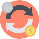 banking, currency, exchange, flat design, forex, money, stock market icon